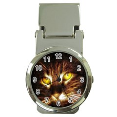 Cat Face Money Clip Watches