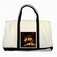 Cat Face Two Tone Tote Bag