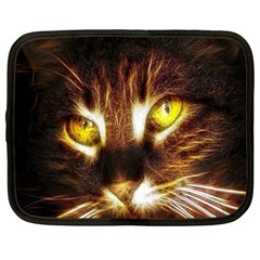 Cat Face Netbook Case (large)