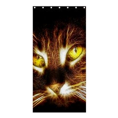 Cat Face Shower Curtain 36  X 72  (stall)
