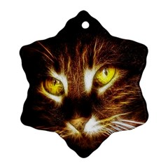 Cat Face Ornament (snowflake)