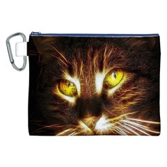 Cat Face Canvas Cosmetic Bag (xxl)