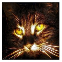 Cat Face Large Satin Scarf (square)