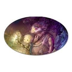 Cartoons Video Games Multicolor Oval Magnet