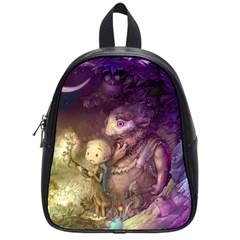 Cartoons Video Games Multicolor School Bags (small)
