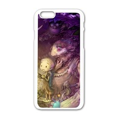 Cartoons Video Games Multicolor Apple Iphone 6/6s White Enamel Case