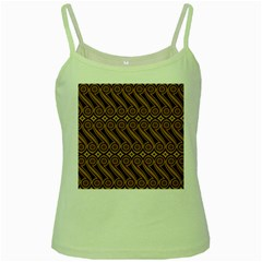 Batik The Traditional Fabric Green Spaghetti Tank