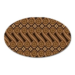Batik The Traditional Fabric Oval Magnet