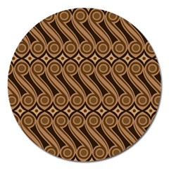 Batik The Traditional Fabric Magnet 5  (round)