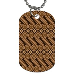 Batik The Traditional Fabric Dog Tag (one Side)