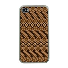 Batik The Traditional Fabric Apple Iphone 4 Case (clear)