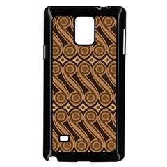 Batik The Traditional Fabric Samsung Galaxy Note 4 Case (black)