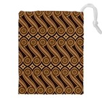 Batik The Traditional Fabric Drawstring Pouches (XXL) Front