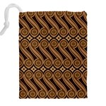 Batik The Traditional Fabric Drawstring Pouches (XXL) Back