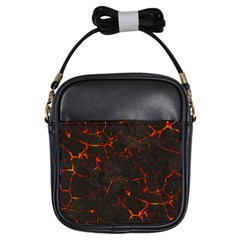 Volcanic Textures Girls Sling Bags