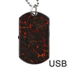 Volcanic Textures Dog Tag Usb Flash (two Sides)