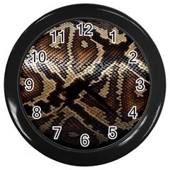 Snake Skin Olay Wall Clocks (black)