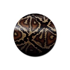 Snake Skin Olay Rubber Round Coaster (4 Pack)