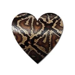 Snake Skin Olay Heart Magnet