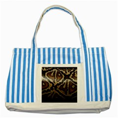 Snake Skin Olay Striped Blue Tote Bag