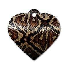 Snake Skin Olay Dog Tag Heart (two Sides)