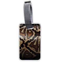 Snake Skin Olay Luggage Tags (one Side)