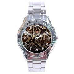 Snake Skin Olay Stainless Steel Analogue Watch