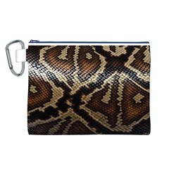 Snake Skin Olay Canvas Cosmetic Bag (l)