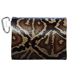 Snake Skin Olay Canvas Cosmetic Bag (xl)