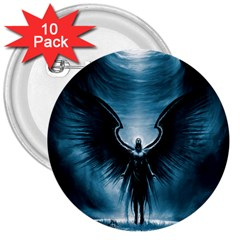 Rising Angel Fantasy 3  Buttons (10 Pack)