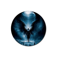Rising Angel Fantasy Rubber Coaster (round)