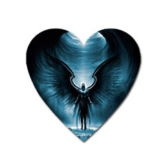 Rising Angel Fantasy Heart Magnet