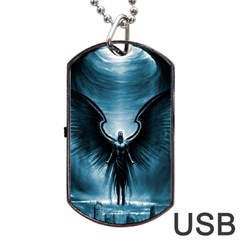 Rising Angel Fantasy Dog Tag Usb Flash (two Sides)