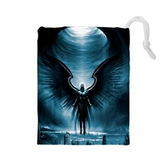 Rising Angel Fantasy Drawstring Pouches (large)