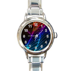 Cracked Out Broken Glass Round Italian Charm Watch