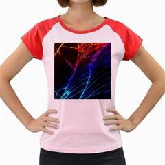 Cracked Out Broken Glass Women s Cap Sleeve T Shirt