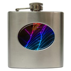 Cracked Out Broken Glass Hip Flask (6 Oz)
