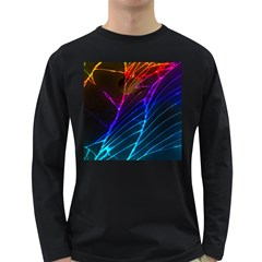 Cracked Out Broken Glass Long Sleeve Dark T Shirts