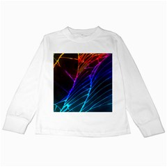 Cracked Out Broken Glass Kids Long Sleeve T Shirts