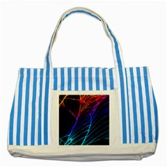 Cracked Out Broken Glass Striped Blue Tote Bag