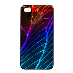 Cracked Out Broken Glass Apple Iphone 4/4s Seamless Case (black)
