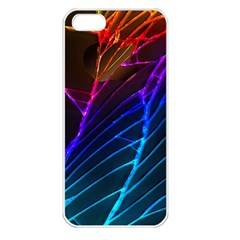 Cracked Out Broken Glass Apple Iphone 5 Seamless Case (white)