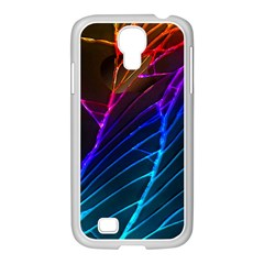 Cracked Out Broken Glass Samsung Galaxy S4 I9500/ I9505 Case (white)