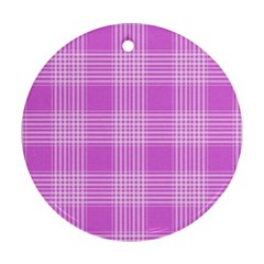 Seamless Tartan Pattern Ornament (round)