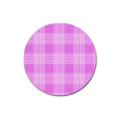 Seamless Tartan Pattern Magnet 3  (round)