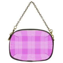 Seamless Tartan Pattern Chain Purses (one Side)