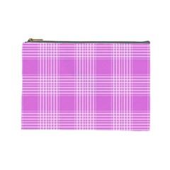 Seamless Tartan Pattern Cosmetic Bag (large)