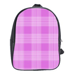 Seamless Tartan Pattern School Bags(large)