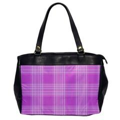 Seamless Tartan Pattern Office Handbags