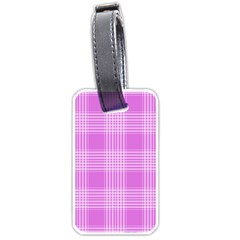 Seamless Tartan Pattern Luggage Tags (two Sides)